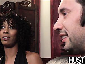 black femme fatale Misty Stone fed jism after harsh ravage