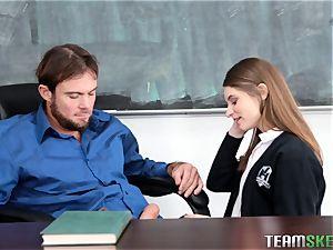 horny student Alice March fuckig her professor
