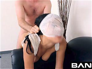 tear up audition: Maya Bijou slurps Up Her cum facial