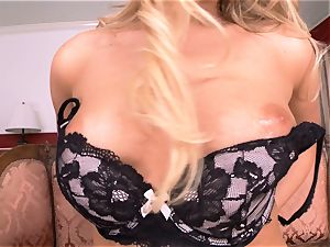 Mia Malkova takes off off and thumbs her saucy slit