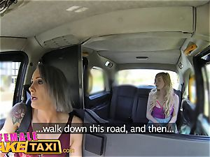 doll fake taxi lezzie encounter for posh college girl