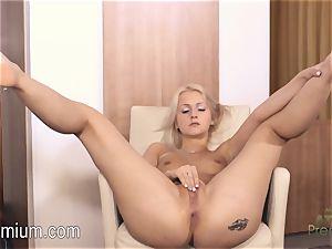 Lea Stevenson tugging her killer wet honeypot