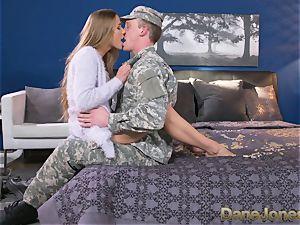 Dane Jones firm deepthroating and poking dirty Army wife
