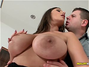 large boobied sensuous Jane screws in fishnet