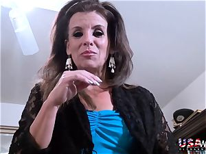 USAwives big-titted plump Mature Solo onanism