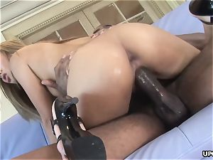 killer chinese chick Lana Croft demolished by ample black weenie