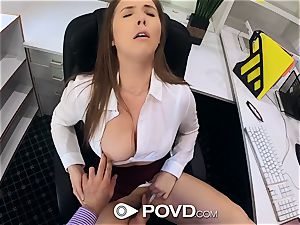 POVD chesty assistant Lena Paul pounds for promotion