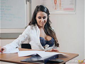 Roxxy Lea rides the tutors hard long schlong