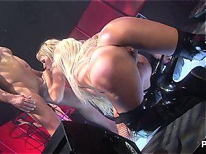 sweat-soaked ass fucking on the dancefloor
