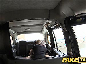 fake taxi slender ash-blonde enjoys it harsh in back of taxi