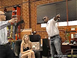 Alexa grace takes bbc in front of her hubby