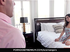 SCAM ANGELS - Gina Valentina gang romp with steamy honies