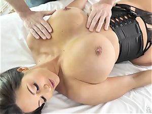 huge bootie huge-boobed mummy Ava Addams gets her well-lubed vag torn up