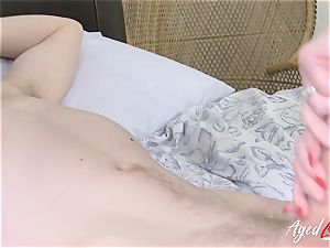 AgedLovE buxom Lacey Starr hardcore and fellatio