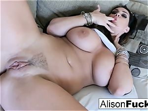 immense titty Alison fondles her immense funbags