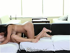 Naomi Kennedy and Natalia Starr sharing a stiffy