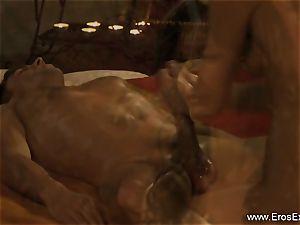 intimate guts examination and rubdown
