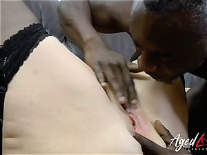 AgedLovE Lacey Starr bi-racial hard-core anal invasion