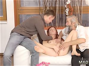senior wondrous grandma and sugar daddy gonzo unexpected practice with an old gentleman