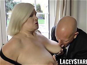 LACEYSTARR - horniest grandmother analled before jizz shot