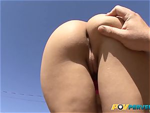 puny Gabriella Paltrova is torn up Up Her tight ass