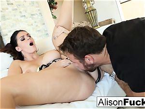 Alison takes on a large spunk-pump