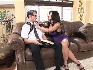 large breasted babe Lisa Ann bags herself a toyboy