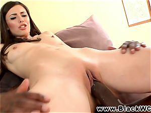 Casey Calvert cheats with a big black cock in her lil' ass hole