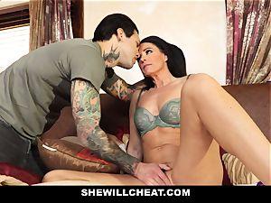 SheWillCheat - Stepmom Caught Using dildo