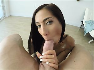 throating dark-haired Stacy Jay labia bashed pov style