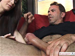 Lana Rhoades getting poked by a big rod