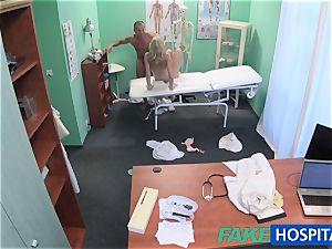 FakeHospital cute blondie patient gets poon exam