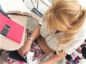 Bad student Shyla gets smashed by her instructor