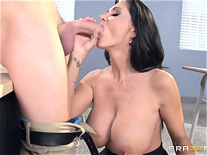 chesty instructor Ava Addams is torn up by her schoolgirl