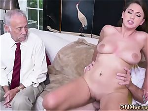 parent and mother senior dude gonzo Ivy impresses with her immense globes and booty