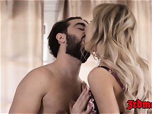 Mature stunner Cherie Deville stuffs taut vagina with manhood